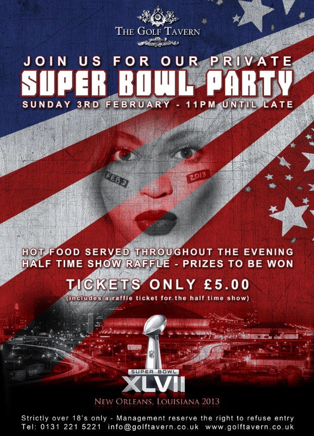 American Football Poster for Golf Tavern