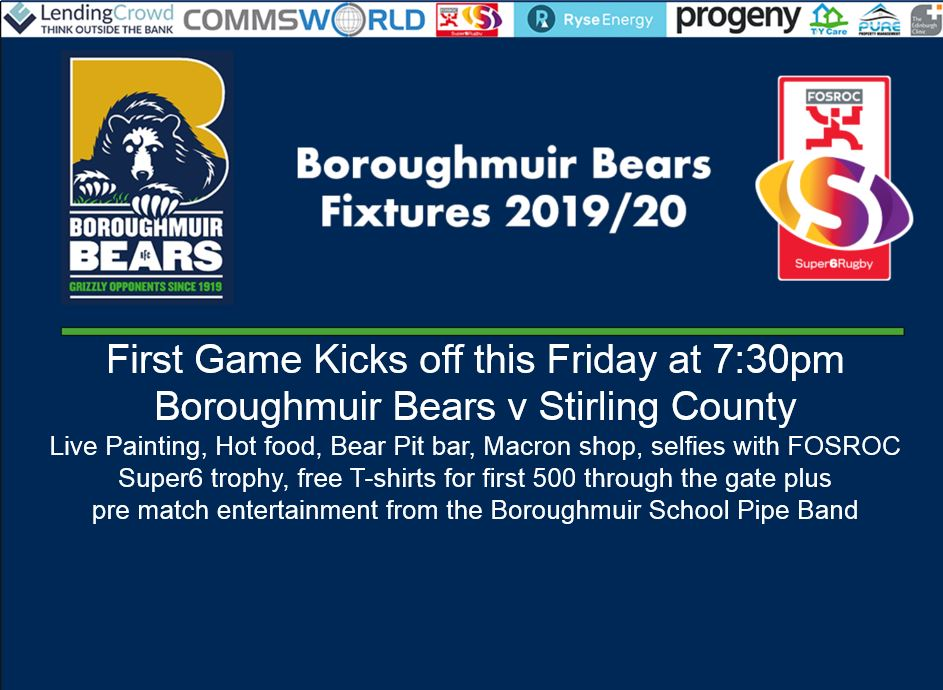 Boroughmuir Bears First FOSROC Super6 game